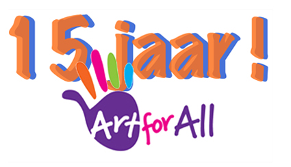 Logo Art for All 15 jaar
